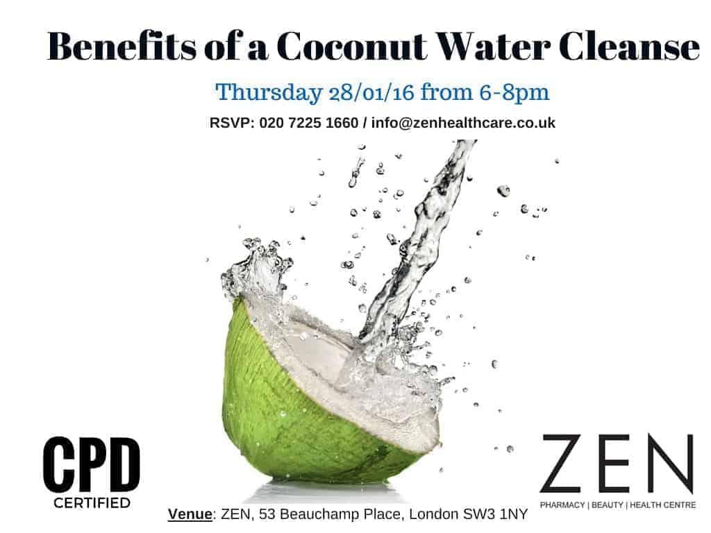 benefits of a coconut water cleanse | zen healthcare