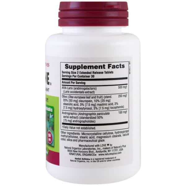 Nature's Plus Herbal Actives Tri-Immune 60 Extended Release Tablets 2- ZEN Healthcare