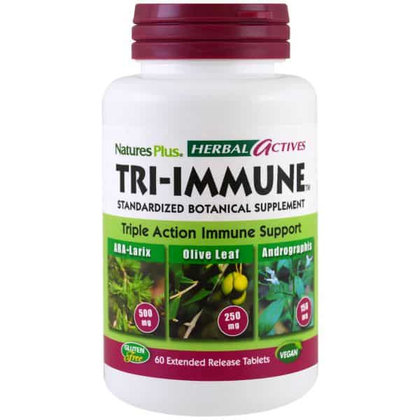 Nature's Plus Herbal Actives Tri-Immune 60 Extended Release Tablets- ZEN Healthcare