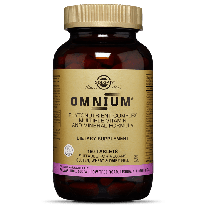 OMNIUM TABLETS PHYTONUTRIENT COMPLEX MULTIPLE VITAMIN & MINERAL