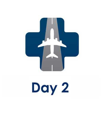 day 2 test for international arrivals